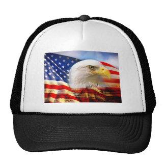 American Flag Bald Eagle Cap