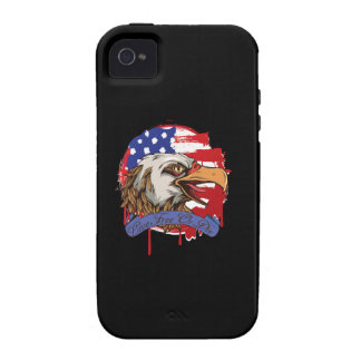 American Flag Bald Eagle Live Free Or Die Vibe iPhone 4 Case