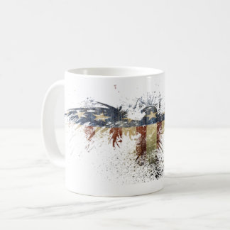 American Flag Bald Eagle Patriotic symbol Coffee Mug