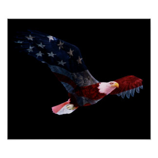 American Flag Bald Eagle Posters