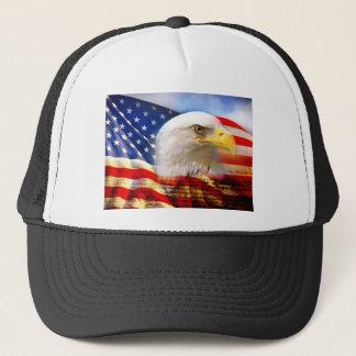 American Flag Bald Eagle Trucker Hat