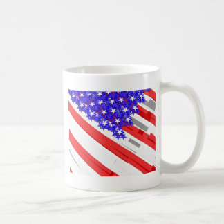 American flag basic white mug