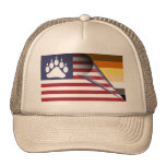 American Flag Bear Pride Paw Cap