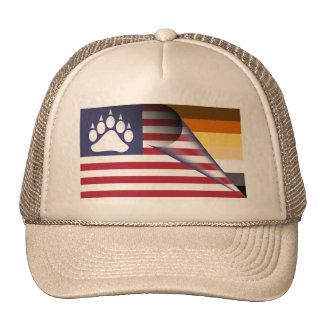 American Flag Bear Pride Paw Trucker Hat