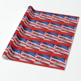 American Flag Birthday, gift wrap. Wrapping Paper