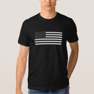 American Flag - Black and White Version Tee Shirts