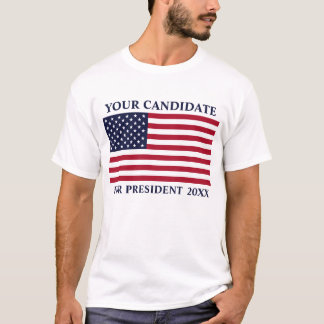 American Flag BluTxt Custom Name Election 2016 Tee
