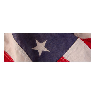American flag bookmark business card