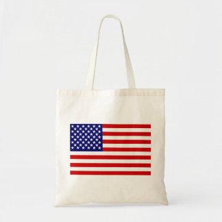 American flag budget tote bag