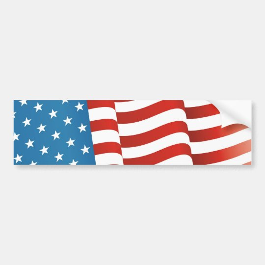 American Flag Bumper Sticker