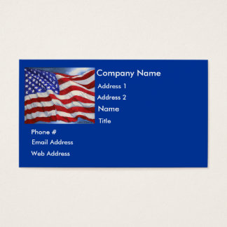American Flag - Business Card