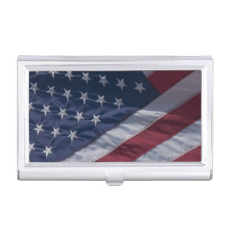 American flag. business card holder