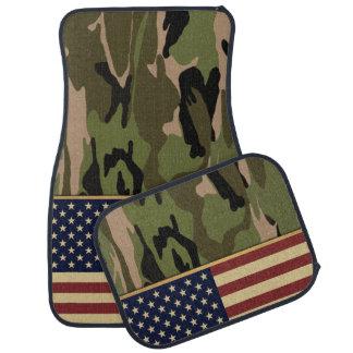 American Flag Camo Car Mat