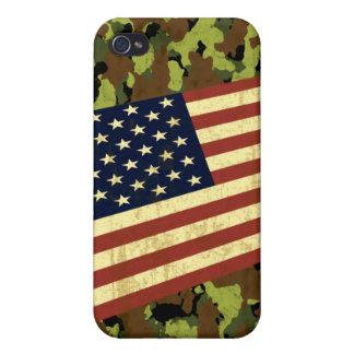 American Flag Camo iPhone 4 Cases