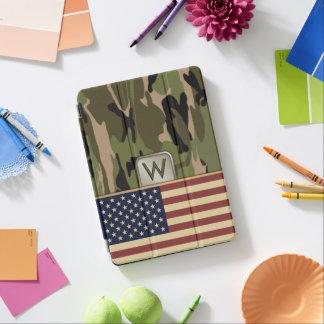 American Flag Camo MonoGram iPad Pro Cover