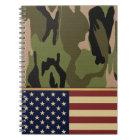 American Flag Camo Notebook