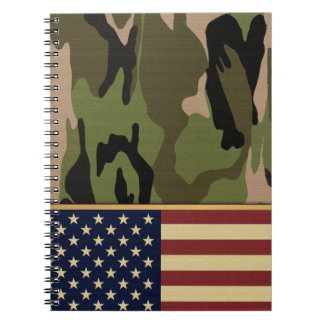 American Flag Camo Notebooks