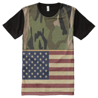 American Flag Camouflage All-Over Print T-Shirt