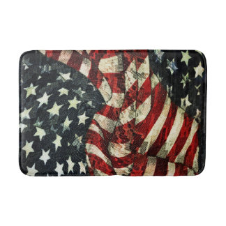 American Flag-Camouflage by Shirley Taylor Bath Mats