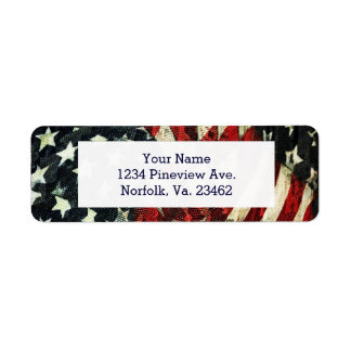 American Flag-Camouflage by Shirley Taylor Return Address Label