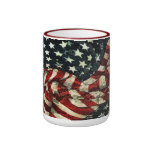 American Flag-Camouflage by Shirley Taylor Ringer Mug