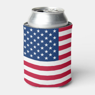 American Flag Can Cooler