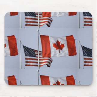 AMERICAN FLAG / CANADIAN FLAG MOUSE PADS