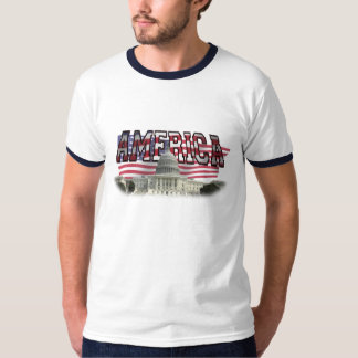 American Flag Capital Building T-Shirt