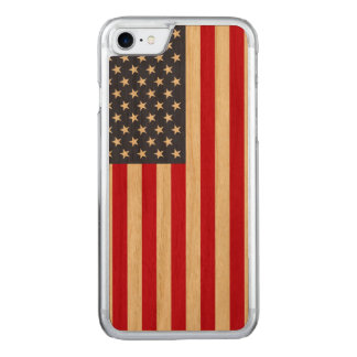 American Flag Carved® Cherry iPhone 7 Bumper Case
