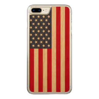 American Flag Carved® Cherry iPhone 7 Plus Bumper Carved iPhone 7 Plus Case