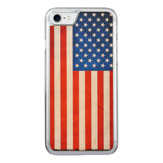 American Flag Carved iPhone 8/7 Case