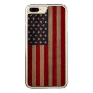 American Flag carved® walnut iPhone 7 Plus bumper Carved iPhone 8 Plus/7 Plus Case