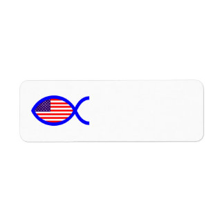 American Flag Christian Fish Symbol
