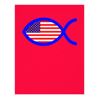 American Flag Christian Fish Symbol Custom Flyer