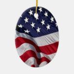 American Flag Christmas Tree Ornament