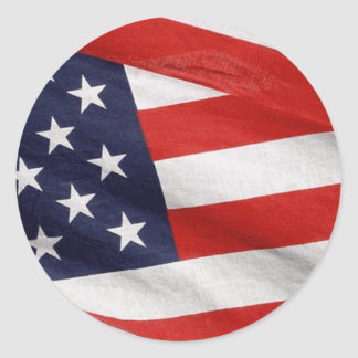 American Flag Classic Round Sticker