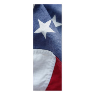 American flag close-up bookmark pack of skinny business cards