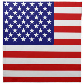 American flag cloth napkins