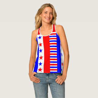 American Flag Colors Stars and Stripes Funny Tank Top