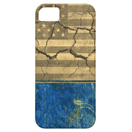 American flag cracked case for the iPhone 5