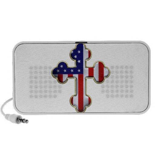 American Flag Cross2 Travel Speakers