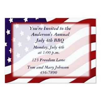 American Flag Custom Invitations