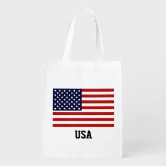 American Flag Customizable Reusable Grocery Bag
