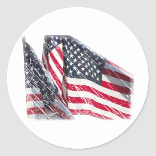American Flag cutout Sticker