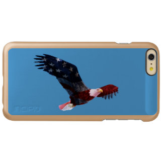 American Flag Decorated Bald Eagle iPhone 6 Plus Case