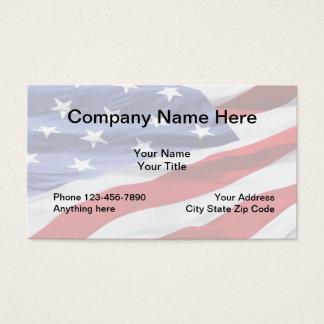 American Flag Design Business Card