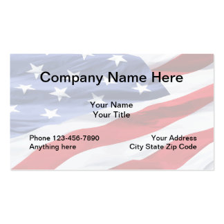 American Flag Design Pack Of Standard Business Cards