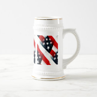 American flag: designs on all sides beer steins