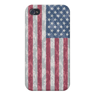 American Flag Digital Camo Case For The iPhone 4