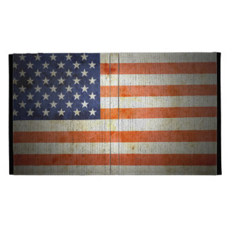 American Flag Distressed iPad Case